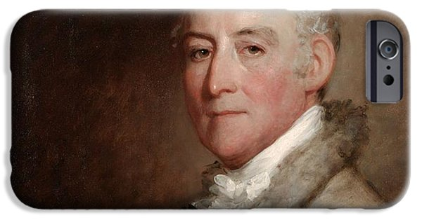 Painter Photographs iPhone Cases - Colonel John Trumbull, 1818 Oil On Wood Panel iPhone Case by Gilbert Stuart