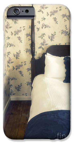 Bed Linens iPhone Cases - Colonial Comfort iPhone Case by Margie Hurwich