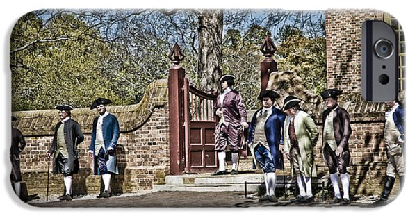 Yorktown Virginia iPhone Cases - Colonial Dress iPhone Case by Timothy Hacker