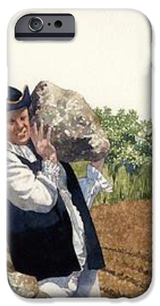 Colonial Farmer iPhone Case by Matthew Frey