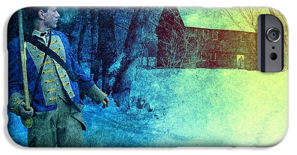 American Revolution iPhone Cases - Colonial Soldier Leaving his Home iPhone Case by Matthew Frey