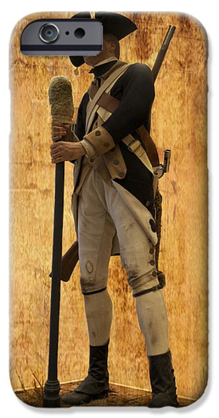 Colonial Soldier iPhone Case by Thomas Woolworth