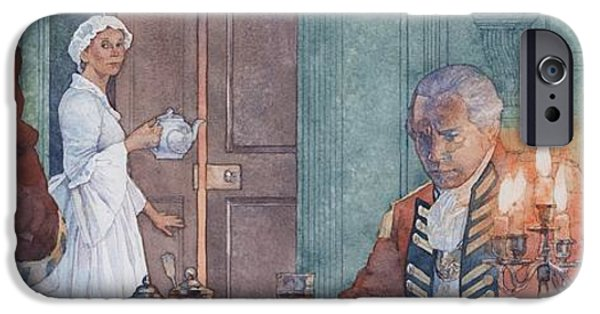 American Revolution iPhone Cases - Colonial Woman Forced to House British Troops iPhone Case by Greg Harlin
