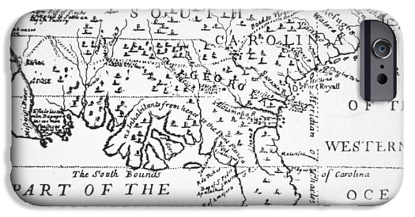 Geographic iPhone Cases - Colony of Georgia America iPhone Case by American School
