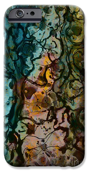 Color Abstraction XVI iPhone Case by David Gordon