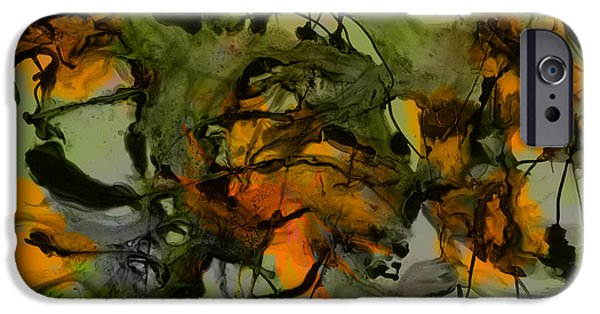 Dave Mixed Media iPhone Cases - Color Abstraction XVII iPhone Case by David Gordon