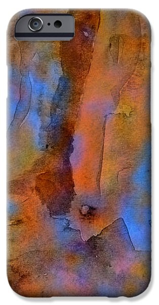 Color Abstraction XVIII iPhone Case by David Gordon