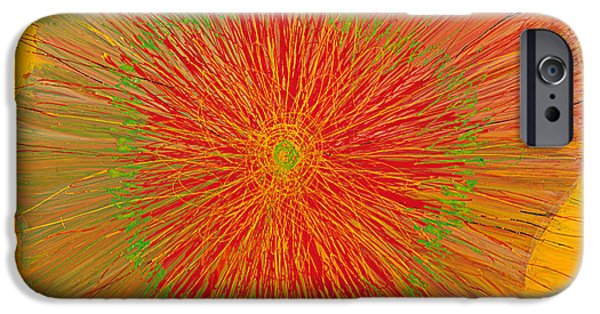 Sheets Glass Art iPhone Cases - Color Burst 4 iPhone Case by Anna Skaradzinska