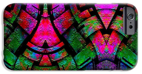 Recently Sold -  - Abstract Digital iPhone Cases - Color By Jesus iPhone Case by Visual Artist  Frank Bonilla