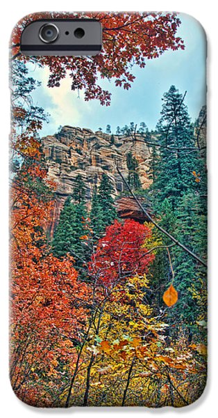 West Fork iPhone Cases - Color Cliff iPhone Case by Brian Lambert