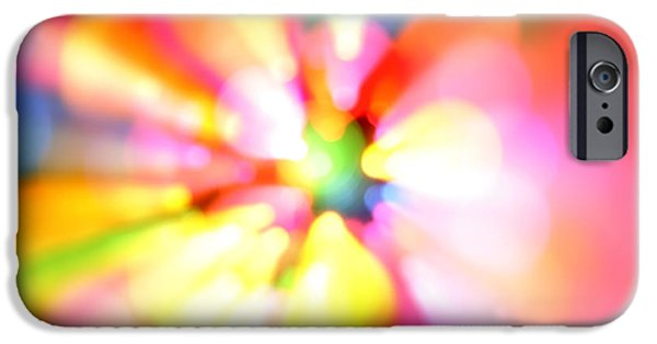 Vibrant Digital Art iPhone Cases - Color explosion iPhone Case by Les Cunliffe