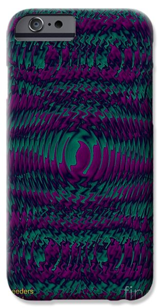 Abstract Digital Jewelry iPhone Cases - Color Fantasia Catus 1 no 2 V iPhone Case by Gert J Rheeders