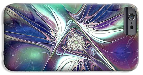Abstract Digital Mixed Media iPhone Cases - Color Flash iPhone Case by Anastasiya Malakhova
