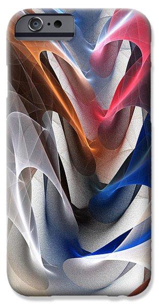 Hearts iPhone Cases - Color Fold iPhone Case by Anastasiya Malakhova