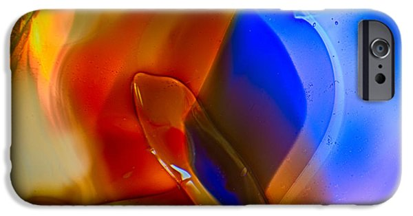 Nature Abstracts Glass iPhone Cases - Color Friends iPhone Case by Omaste Witkowski