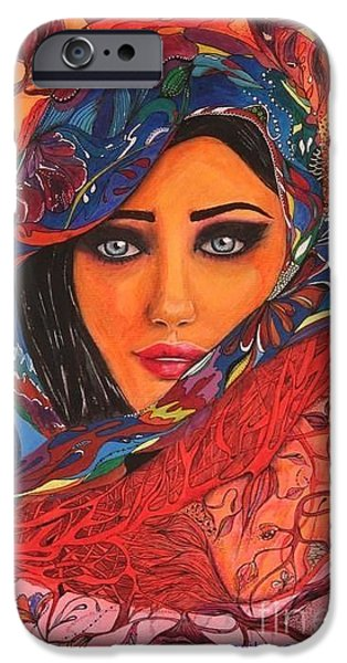 Woman iPhone Cases - Color iPhone Case by Otilia Grumazescu