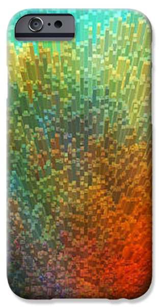 Color Infinity - Abstract Art By Sharon Cummings iPhone Case by Sharon Cummings