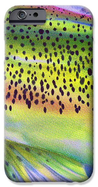 Color Me Trout iPhone Case by Anderson R Moore