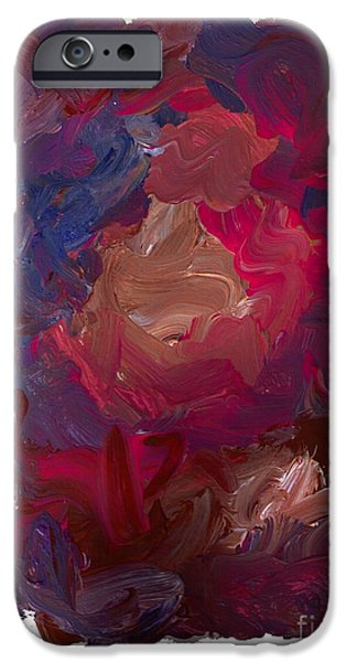 Contemporary Abstract iPhone Cases - Color Mix 14 iPhone Case by Lawrence Nusbaum