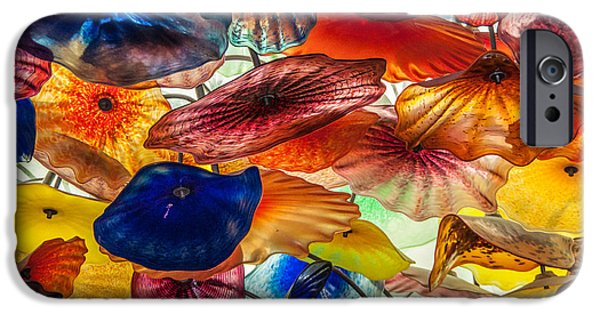 Floral Glass iPhone Cases - Color of life iPhone Case by Milind Patil