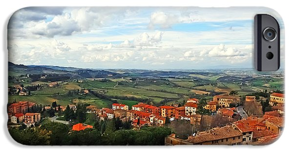 Village iPhone Cases - Color of Tuscany iPhone Case by Elvis Vaughn