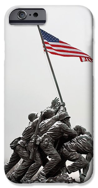 Patriotism iPhone Cases - Color on a Grey Day iPhone Case by JC Findley