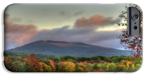 New Hampshire Fall Scenes iPhone Cases - Color on Crotched Mountain - NH iPhone Case by Joann Vitali