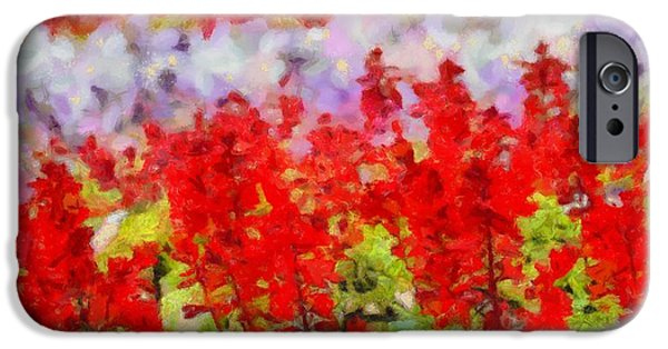 Flora Mixed Media iPhone Cases - Color Palette Garden Glory iPhone Case by Dan Sproul