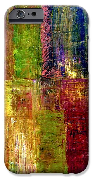 Color Panel Abstract iPhone Case by Michelle Calkins