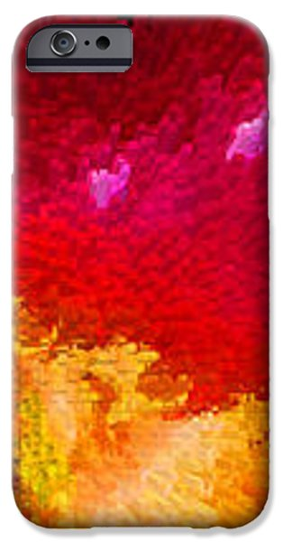 Color Shock 4 - Vibrant Digital Painting iPhone Case by Sharon Cummings