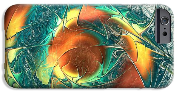 Fish iPhone Cases - Color Spiral iPhone Case by Anastasiya Malakhova