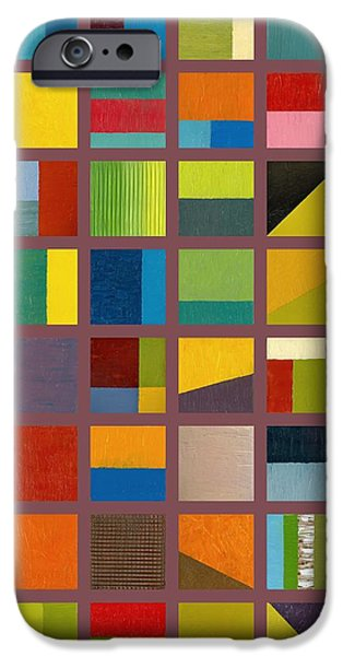 Color Study Collage 65 iPhone Case by Michelle Calkins