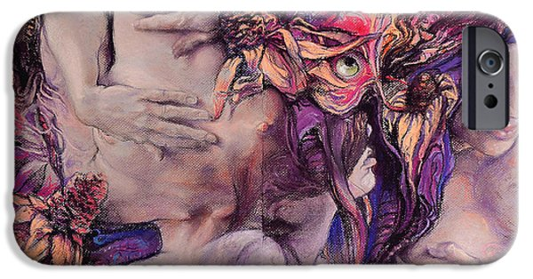 Flower Pastels iPhone Cases - Color Vertigo iPhone Case by Graszka Paulska