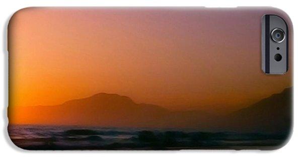The View Mixed Media iPhone Cases - Color Wash Sunset  iPhone Case by Debra     Vatalaro