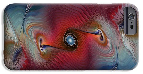 Lyrical iPhone Cases - Color Wave-Fractal Design iPhone Case by Karin Kuhlmann