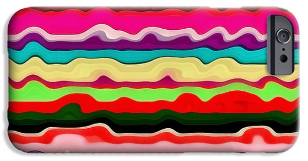 Textural iPhone Cases - Color Waves No. 1 iPhone Case by Michelle Calkins