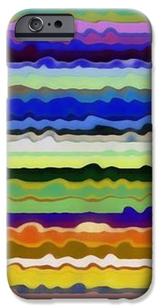 Rust iPhone Cases - Color Waves No. 5 iPhone Case by Michelle Calkins