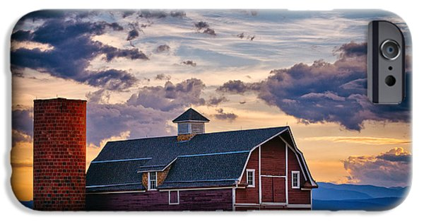 Barn Print Photographs iPhone Cases - Colorado Barn iPhone Case by Darren  White