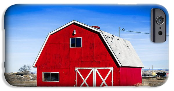 Board iPhone Cases - Colorado Barn on the Farm iPhone Case by Janice Rae Pariza