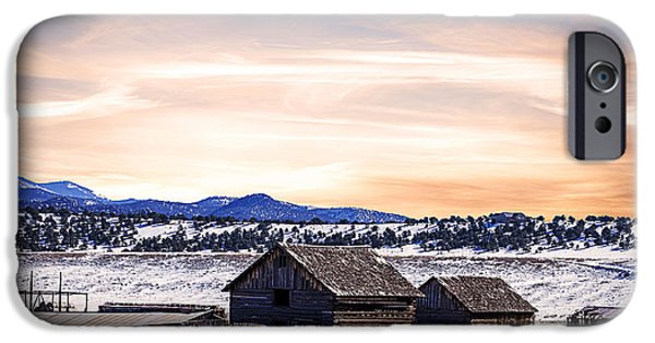 Field. Cloud iPhone Cases - Colorado Barns Landscape iPhone Case by Janice Rae Pariza