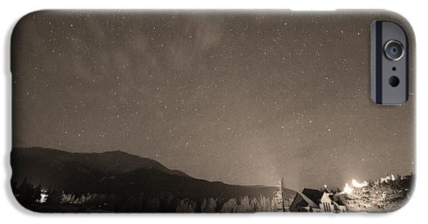 Catherine White Photographs iPhone Cases - Colorado Chapel On The Rock Dreamy Night Sepia Sky iPhone Case by James BO  Insogna
