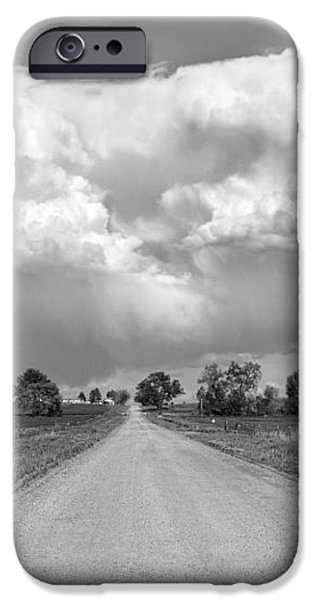 Colorado Country Road Stormin BW Skies iPhone Case by James BO  Insogna