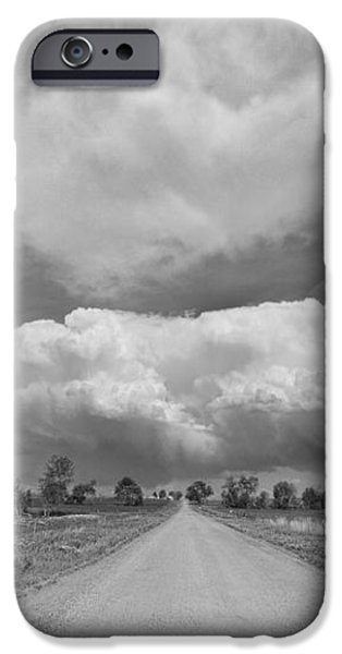 Colorado Country Road Stormin Skies BW iPhone Case by James BO  Insogna