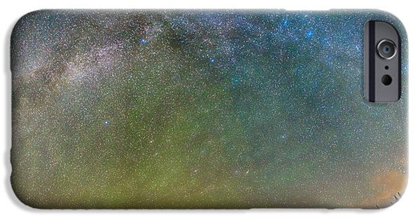 Arapaho iPhone Cases - Colorado Indian Peaks Milky Way Panorama iPhone Case by James BO  Insogna