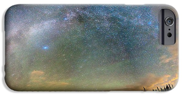 Arapaho iPhone Cases - Colorado Indian Peaks Wilderness Milky Way Panorama iPhone Case by James BO  Insogna