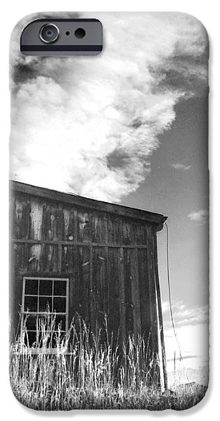 Old Barn Paintings iPhone Cases - Colorado Mining Barn iPhone Case by Cathy Walters