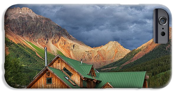 Colorado Framed Prints iPhone Cases - Colorado Mountain Home iPhone Case by Darren  White