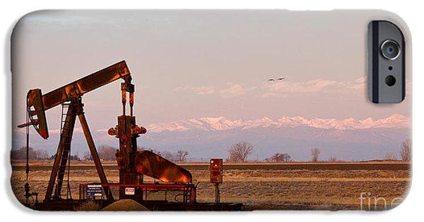 James Bo Insogna iPhone Cases - Colorado Oil Well Panorama iPhone Case by James BO  Insogna