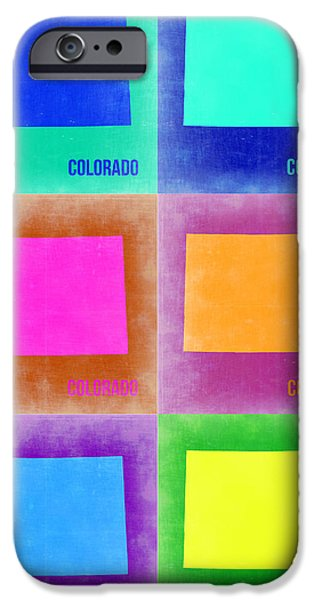 Contemporary Poster iPhone Cases - Colorado Pop Art Map 3 iPhone Case by Naxart Studio