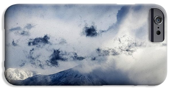 Snowy Day iPhone Cases - Colorado Postcards iPhone Case by Janice Rae Pariza